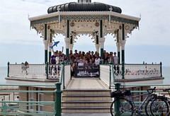 2016-08-14: Whole Bandstand (psyxjaw) Tags: brighton swing dance swingdancing dancing weekend jumpingattheseaside jumping seaside jats bandstand band stand beach