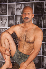 IMG_2235 (DesertHeatImages) Tags: yellow joe hunter hairy furry daddy bear otter naked nude uncut indian moustache camo