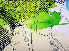DSC0966859 (scott_waterman) Tags: scottwaterman painting paper ink watercolor gouache lotus lotusflower detail