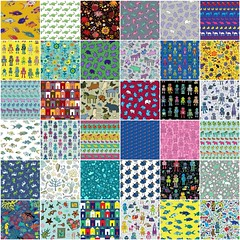 Selection of my first 100 fabric designs! (Cecca W) Tags: fdsflickrtoys spoonflower fabric pattern patterndesign