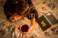 autumn evening (Valery Parkhomenko) Tags: nikon d610 arsat 50mm portrait abstract autumn tea cup book bedroom decorations flowers house home girl