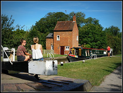 Slow Pace...... (Jason 87030) Tags: slow pace boats holiday cruise tourism braunston cottage crooked northants northamptonshire ladies girls sitting chat talk boat narrowboat endaevaor september 2016 inspectormorse water locks 2 summer sky sony a6000 alpha ilce tag flickr young bum rest relaxing scene pleasant view nice color colout light canalside towpath uk england greatbritain unitedkingdom canalanal guc grandunioncanal 1sept sept1 gate photo shot photograph cool canalmania local