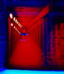DSC_9441 (Becci12.07) Tags: mehrfachbelichtung langzeit rot tunnel hlle tor licht duisburg landschaftspark ruhrpott nrw