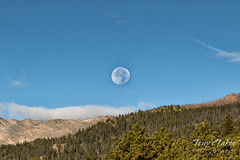September 18, 2016 - A setting moon in Rocky Mountain National Park. (Tony's Takes)