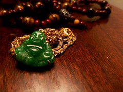 2016-09-20_10-27-58 (Chloxin) Tags: buddha gold necklace jade tigerseye beads wood