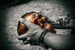 """Mr. Copperhead"" (jochenlorenz_photografic) Tags: project skull portraits colorkey dark blackandwhite art design hidden hide fujixt10 fuji fujixseries fujixsytem copper copperhead thing allesfrdielik fotocult fotokult faceoff mask hero explore whatdoesitmean darkside behindthemask gloomy moody twoface"