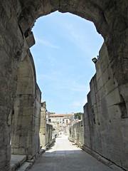 Ruins at the Roman Theatre (AmyEAnderson) Tags: outdoor france europe bouchesdurhone provence ruins roman arch architecture limestone theatre romanesque unesco