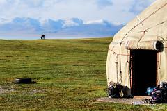 Yurt in Song Kl lake (Val Guid'Hall) Tags: kyrghyzstan kyrghyz bichkek osh karakol kotchkor naryn silk road tcholpon alta yurt lada asia central rainbow ala kl arslanbob mosk islam muslim tach rabat caravanserail kazarman altyn arashan holy trinity orthodox wrestling song sunset landscape landscapes victory square astana airport manas