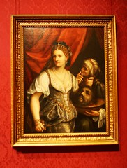 Another bad first date. (ktmqi) Tags: ringlingmuseum sarasota art artmuseum gallery paintings florida judithwiththeheadofholofernes fedegaliza religion myth oldtestament woman warrior