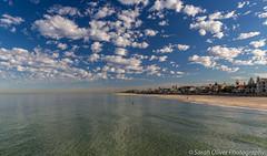 Henley Beach (SarahO44) Tags: adelaide southaustralia australia south beach sand ocean clouds cotton wool reflection canon 6d au