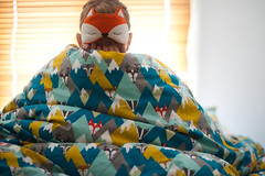 Day 192, Year 9. (evilibby) Tags: 365 3659 365days 365days9 libby sleepmask eyemask foxmask foxeyemask bed hide hiding hidden