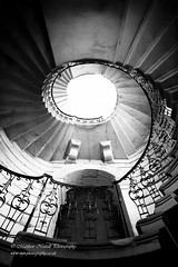 Reach for the Light (Matthew Nuttall Photography) Tags: blackwhite nationaltrust northumberland seatondelavalhall architecture bw mono monochrome northeast spiral staircase stairs seatonsluice england unitedkingdom
