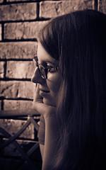tarah (bistro22380) Tags: girl glasses portait youngperson d7000 softlight lighting outdoorportrait
