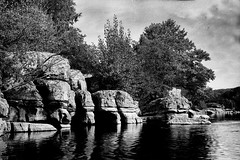 Labeaume river (salparadise666) Tags: nils volkmer busch pressman c 2x3 fomapan 100 sheet film caffenol rs france cevennes landscape bw black white nature river rural contrast beaume wollensak 101mm