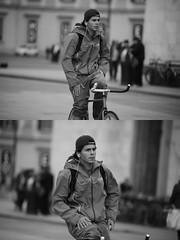 [La Mia Citt][Pedala] senza mani (Urca) Tags: milano italia 2016 bicicletta pedalare ciclista ritrattostradale portrait dittico bike bicycle nikondigitale mir biancoenero blackandwhite bn bw nn 89158 senzamani