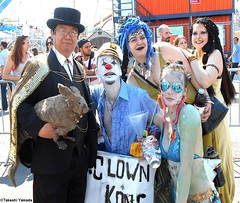 Dr. Takeshi Yamada and Seara (Coney Island Sea Rabbit) at the Mermaid Parade by the Coney Island Beach in Brooklyn, New York on June 18, 2016.  20160618SAT MERMAID PARADE. DSCN6605=p4035C2 (searabbits23) Tags: searabbit seara takeshiyamada  taxidermy roguetaxidermy mart strange cryptozoology uma ufo esp curiosities oddities globalwarming climategate dragon mermaid unicorn art artist alchemy entertainer performer famous sexy playboy bikini fashion vogue goth gothic vampire steampunk barrackobama billclinton billgates sideshow freakshow star king pop god angel celebrity genius amc immortalized tv immortalizer japanese asian mardigras tophat google yahoo bing aol cnn coneyisland brooklyn newyork leonardodavinci damienhirst jeffkoons takashimurakami vangogh pablopicasso salvadordali waltdisney donaldtrump hillaryclinton endangeredspecies parade