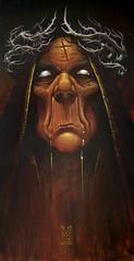 MELCHOR 50 x 100 (emy mariani) Tags: art paint arte canvas horror pintura cuadros oscuridad