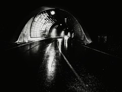 He Is On His Way (Yves Roy) Tags: street city shadow urban blackandwhite bw black contrast dark austria blackwhite raw moody darkness noiretblanc 28mm snap fav20 gloom fav30 yr enigmatic fav10 ricohgrd grdiii bureboke yvesroy yrphotography