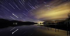 star trails at keswick (awhyu) Tags: photography star jetty derwent trails andrew astrophotography waters yu keswick ashness