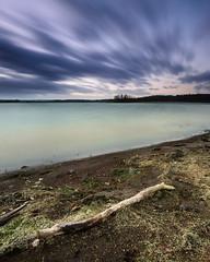 good things come to those who wait (simonallam) Tags: uk longexposure winter sunset england lake water landscape rutland rutlandwater sigma1020mmf35 d7000