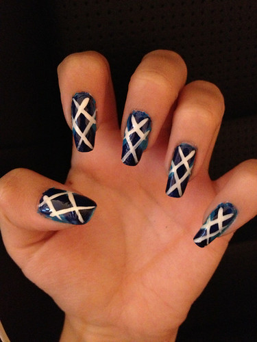 im-sorry-no-one-likes-you: New argyle nails. Not the best...