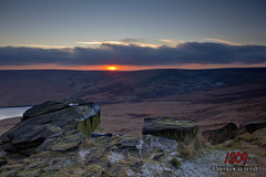Cold Sunset At Buckstones (Ashey1209) Tags: sunset lake cold ice water clouds landscape rocks cloudy moors icy nationaltrust buckstone