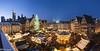 Christmas Market (Frankfurt) (renan4) Tags: travel winter panorama building lights europe cityscape view frankfurt christmasmarket noel panoramic bluehour gremany rgicquel nikond800 1635f4vr renan4 renangicquel