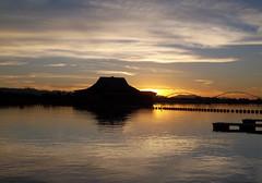 sunset (just me julie) Tags: pink blue sunset arizona sky orange white lake reflection water day cloudy tempe tempetownlake