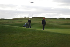 Lahinch Golf Club in Lahinch Village in County Clare, Ireland (RYANISLAND) Tags: county ireland irish beach town europe clare european village beaches lahinch countyclare beachtown irishvillage lehinch liscannorbay liscannorbaybeach
