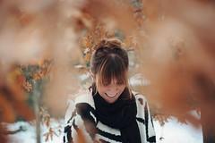 Joy is not in things; it is in us. (L e t i) Tags: winter snow smile scarlet nikon sister e viola castello tra grazie massimo tortona sogno realta d700