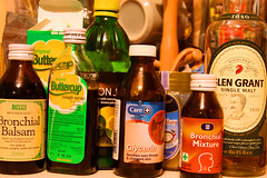Day 325 - 'Flu remedies (Ben936) Tags: lemon bottles health honey whisky fitness influenza balsam medication singlemalt glycerine potions coughsyrup scotchwhisky fluremedies coldremedies bronchial bronichal buttercupsyrup