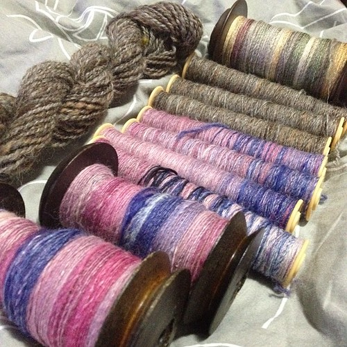 Day 4 of tour de fleece. #spinning #handspinning #handspun #yarn #tdf2012 #tourdefleece #fibre