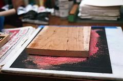 08950021-16 (jjldickinson) Tags: wood red print cherry carving longbeach card printmaking wrigley olympusom1 woodblock sandpaper fujicolorsuperiaxtra400 mokuhanga laserengraving promastermcautozoommacro2870mmf2842 promasterspectrum772mmuv roll395