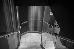 streifendesign (Bearbeitungstrupp) Tags: bw metal stairs stripes wand hamburg treppe metall reflexion spiegelung omd reflektion streifen lumixg20f17