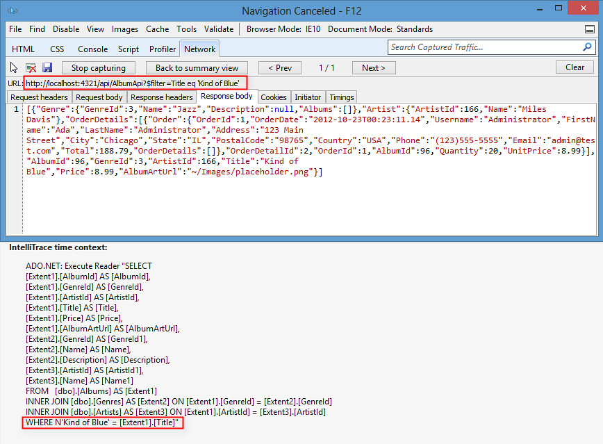 ASP.NET Web API - OData Filtering