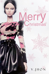 Merry Christmas (V. JHON) Tags: xmas pink black fashion poppy merry royalty stud parker jewlry fr2 vjhon