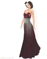On Your Toes Blog: Merry and Bright (Anessa Stine) Tags: glitter holidays poinsettia gown elegant league cae redgrave slink anessastine baiastice fashionmodelavatar secondlife sl blisscouture lelutka suvoir