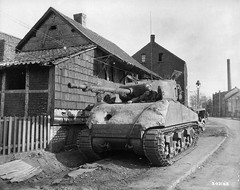 "American tank M4A3 (76) W Sherman"" 2nd Armored Division,  with additional protection in the form of a frontal sheet concrete masks in Gelsenkirchen (Gelsenkirchen), Germany, 19 March 1945. (Krueger Waffen) Tags: war tank wwii american armor armored waffenss m4 sherman tanks panzer secondworldwar afv worldwartwo armoredcar wehrmacht shermantank sdkfz pzkpfw americantank m4a3 secondworldwartanks worldwartwotanks tanksofthesecondworldwar"