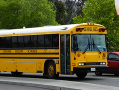 School Bus (kevin42135) Tags: california blue school bus bird ic highway all er thomas kingdom flags hwy international american 80s tc a3 re fe 37 six discovery vallejo 90s tc2000 icre westcoaster tcre tcfe saftliner a3re