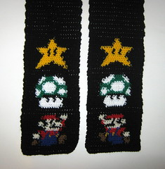 Mario scarf (doctormoo) Tags: scarf handmade crafts crochet nintendo mario gaming gamer videogame nes 1up mariobros invincibilitystar