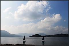 Umiam Lake (Barapani) (Midhun Manmadhan) Tags: blue lake clouds shillong meghalaya barapani umiamlake