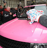 A man jumps on the bonnet of Katie Price's car