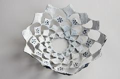 bowl (Fluxx) Tags: circle squares crochet bowl tunisian myowndesign