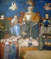 Detail of the Good Commune from Ambrogio Lorenzetti's Allegory of Good Government