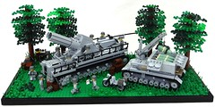 karl gert und Munitionsschlepper *updated* (BeLgIuM ww2 bUiLdeR) Tags: war tank lego wwii german dio ww2 motorcycle diorama
