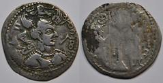 A76_NezakShah_drachme_1ar85 (Enez35) Tags: coin monnaie ghazni hunshephtalites nezakmalkas nezakshah