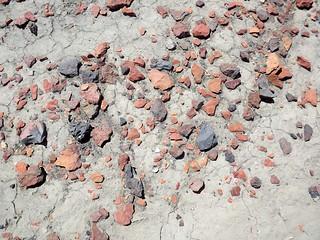 orange pebbles