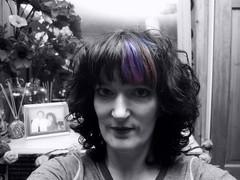 8 | Jimjams (Auntie P) Tags: blackandwhite bw selfportrait cutout hair purple january ofme pjs auntiep pyjamas jimjams purplehair selectivecolor selectivecolour 365days 2013 365days2013 2013week2 orpajamas dependswhereyoulive