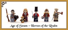 Age of Steam - Heroes of the Realm (Hammerstein NWC) Tags: bear hat lego teddy top pipe steam sabre fantasy minifig adventures rms steamworks min adventurer steampunk musket bera stovepipehat bricka sidan brickforge minifigcat brickwarriors dscrx100