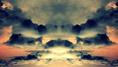 Highway to the sky (Kispio) Tags: sardegna sky italy nature clouds mirror landscapes italia nuvole sardinia country bluesky natura campagna mirrored avenue paesaggi simmetry digitalmirror gerrei silius kispio